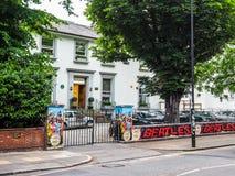 Abbey Road studior i London (hdr) Royaltyfria Foton