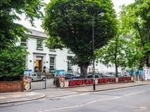 Abbey Road studior i London (hdr) Royaltyfri Fotografi