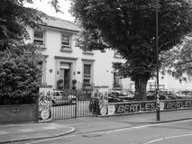 Abbey Road studior i svartvita London Fotografering för Bildbyråer