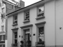 Abbey Road studior i svartvita London Arkivfoto