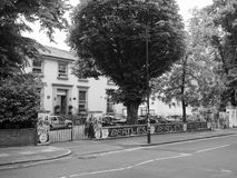 Abbey Road studior i svartvita London Arkivbild