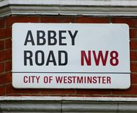 Abbey Road in London stock photography