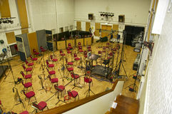 Abbey Road Studios, London. Studio 2 of Abbey Road Studios overview: Orchestral set-up stock photography