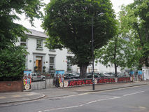 Abbey Road studios in London. LONDON, UK - CIRCA JUNE 2017: Abbey Road recording studios made famous by the 1969 Beatles album cover stock image