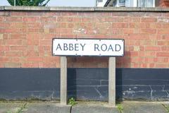 Abbey Road tecken Fotografering för Bildbyråer