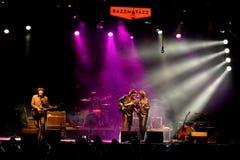 Abbey Road (tributo da faixa ao Beatles) executa no festival dourado do renascimento Fotografia de Stock Royalty Free
