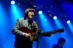 Abbey Road (tributo da faixa ao Beatles) executa no festival dourado do renascimento Imagem de Stock