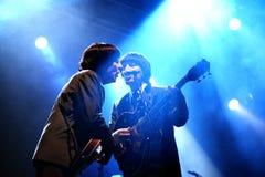 Abbey Road (tributo de la banda al Beatles) se realiza en el festival de oro del renacimiento Foto de archivo