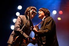 Abbey Road (tributo de la banda al Beatles) se realiza en el festival de oro del renacimiento Fotografía de archivo libre de regalías
