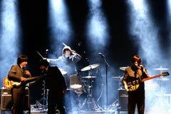 Abbey Road (tributo de la banda al Beatles) se realiza en el festival de oro del renacimiento Imagen de archivo libre de regalías