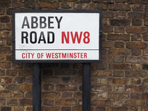 Abbey Road undertecknar in London Royaltyfri Foto
