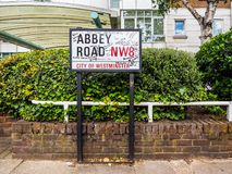 Abbey Road undertecknar in London, hdr Royaltyfria Foton