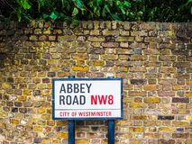 Abbey Road undertecknar in London, hdr Arkivfoto