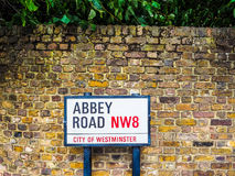 Abbey Road undertecknar in London (hdr) Arkivbilder