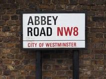 Abbey Road unterzeichnen herein London Stockfotografie