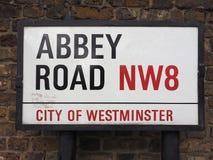 Abbey Road unterzeichnen herein London Lizenzfreies Stockbild