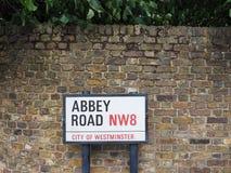 Abbey Road unterzeichnen herein London Lizenzfreie Stockfotografie