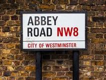 Abbey Road unterzeichnen herein London, hdr Stockfotos