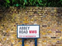 Abbey Road unterzeichnen herein London, hdr Stockfoto