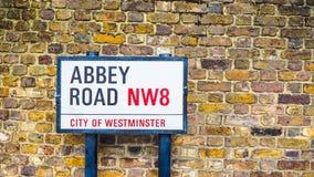 Abbey Road unterzeichnen herein London (hdr) Lizenzfreies Stockbild