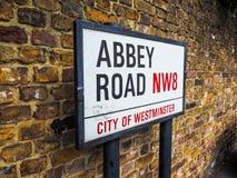 Abbey Road unterzeichnen herein London (hdr) Lizenzfreies Stockfoto