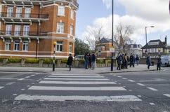 Abbey road zebra crossing Royalty Free Stock Image