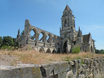 Abbey Ruins. Ruins of an old abbey in the city of Caen in France Stock Photography