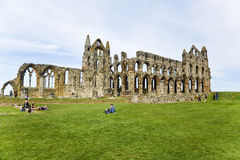 Abbey ruins above whitby town - National Heritage site Stock Photos