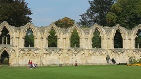 Abbey Ruins - City of York - England stock video footage