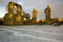 Abbey Ruins dans des jardins de St Edmunds d'enfouissement Image libre de droits