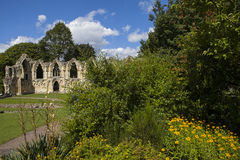 Abbey Ruins de St Mary à York Images stock