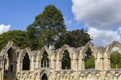 Abbey Ruins de St Mary en York Imágenes de archivo libres de regalías
