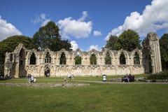 Abbey Ruins de St Mary en York Foto de archivo libre de regalías