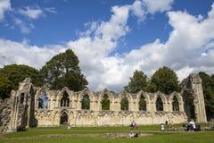 Abbey Ruins de St Mary en York Fotografía de archivo