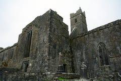 Abbey ruins, Quin, Ireland Stock Photos