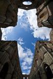 Abbey of Saint Galgano, Tuscany - Italy. Church of Saint Galgano the sky as roof stock photography