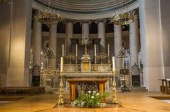 Abbey of Saint Germain en Laye, France. SAINT GERMAIN EN LAYE, FRANCE, APRIL 08,  2017 : interiors of the abbey, april 08, 2017, in Saint germain en Laye, France Royalty Free Stock Photos