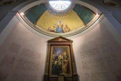Abbey of Saint Germain en Laye, France. SAINT GERMAIN EN LAYE, FRANCE, APRIL 08,  2017 : interiors of the abbey, april 08, 2017, in Saint germain en Laye, France Stock Photos