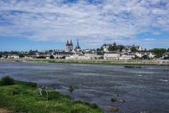 Abbey Saint-Laumer en Blois. Castillo francés del valle del Loira. Francia Fotos de archivo