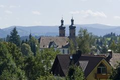 Abbey of Saint Peter in the Black Forest at summertime Royalty Free Stock Photos