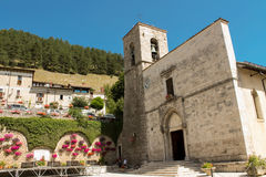 Abbey of Saints Peter and Paul in Pescasseroli Royalty Free Stock Photo
