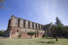 Abbey of San Galgano at morning Stock Image