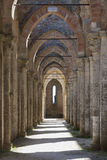 Abbey of San Galgano, Tuscany. The Abbey of San Galgano was founded by Cistercian monks. Dedicated to St. Galganus (d.1181), a hermit who lived on the hill royalty free stock photo