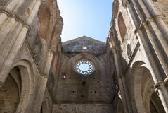 Abbey of San Galgano, Tuscany. Royalty Free Stock Photos