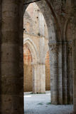 Abbey of San Galgano Stock Images