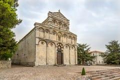 Abbey San Pietro di Sorres i Borutta Royaltyfri Foto