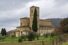 Abbey of Sant Antimo, Italy Royalty Free Stock Image