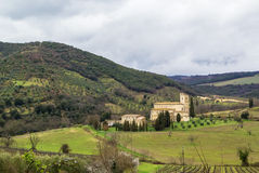 Abbey of Sant Antimo, Italy Stock Images
