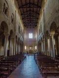 Abbey of Sant'Antimo, Montalcino, Interior. View of the interior of the Abbey of Sant'Antimo (Italian: Abbazia di Sant'Antimo) in the Stock Photo