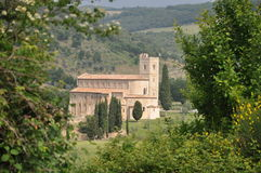 Abbey Sant'Antimo, Tuscany Stock Image